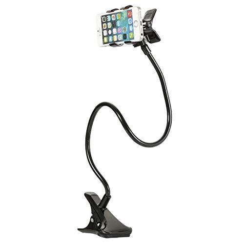 AIREQN Lazy cama de escritorio Soporte de montaje Soporte for el dormitorio Gimnasio TableCell la ayuda del teléfono móvil del sostenedor del teléfono del clip flexible 360 ° cuello de ganso Soporte 🔥
