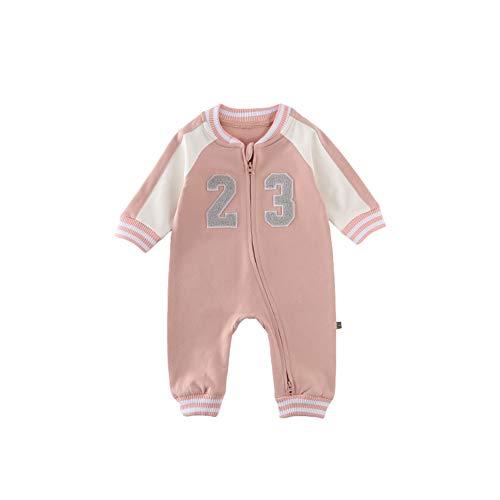 Fairy Baby Costume de Bébé Automne Manches Longues Combinaison de Mode Manches Longues Size 80 (Pink)