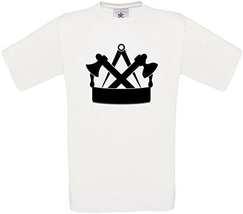 Herren T-Shirt Zimmermann Zunftwappen S bis 5XL (S, Weiß)