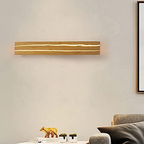 ZTKBG Luz de Pared de Madera nórdica, lámpara de Pared de Grietas de Madera, lámpara de Pared de 11W LED, para Sala de Estar de Sala de Estar escaleras de Pasillo