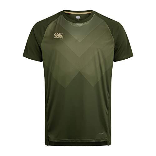 Canterbury Vapodri Superlight Graphic Camiseta para Hombre, Hombre, Camiseta, QE547674, Rifle Verde, 4XL