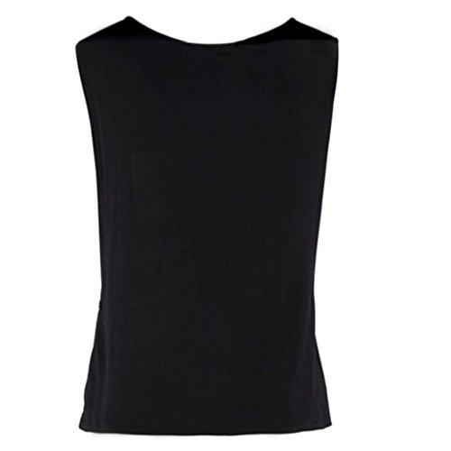 Ropa Camiseta sin Mangas Tank Tops para Mujeres, Verano Sexy Deporte Casual Lace Chaleco Blusa Tops Blusas Crop Tops Vest T Shirt Fiesta en la Playa para Mujeres Chica Joven (S)