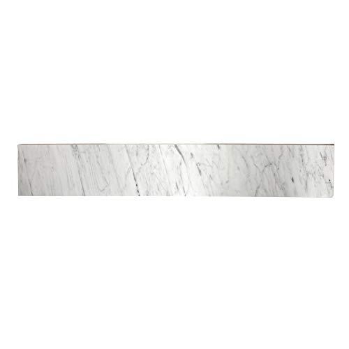 Kingston Brass KVPB30MBS Templeton 30 Marble Vanity Top Backsplash, Carrara White