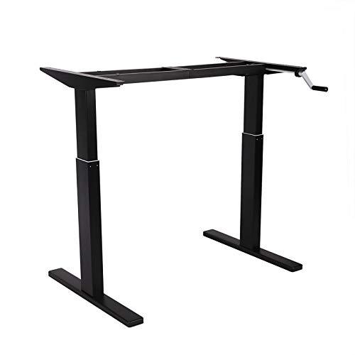 FlexiSpot スタンディングデスク 昇降デスク 高さ調節デスク 手動式 オフィステーブル ブラックH2B