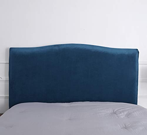 Funda para cabecero de cama de color liso para cama (201-220, Peacock azul)