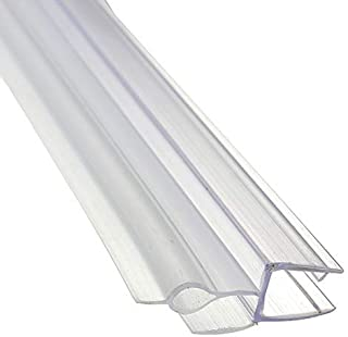 PVC Transparent Shower Door Seal Strip Frameless Door Sweep Fit for 4-6mm Thickness Glass, 70cm, No Need Glue