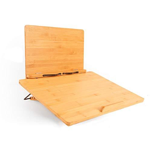 ブックスタンド 抗菌竹製高さ/角度調整可能, 複数の機能ライティングボード書見台 読書台 選べる支えスタンドが折りたたみ式で、持ち運びやすいで, 軽量携帯筆記台子供や高齢者が読んだり勉強したりするのに,M