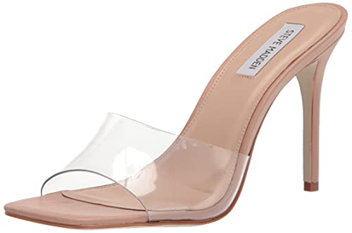 Steve Madden Women's Signal Heeled Sandal, Clear, 9.5