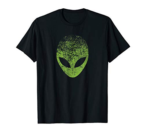 Außerirdischer Kopf Green Alien Face, UFO, Area 51 Roswell T-Shirt