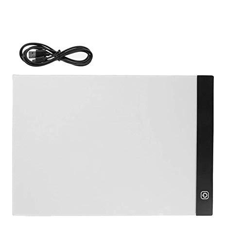 Eshylala A4 LED Light Box Tracing Board Dimmable USB Art Stencil Drawing Pattern Pad