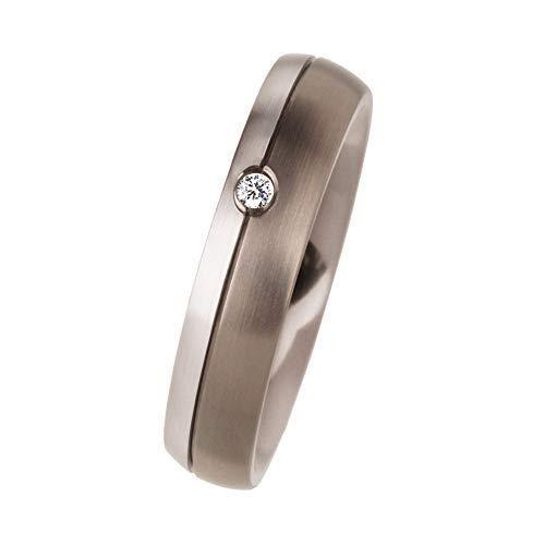 Ernstes Design R112 - Anello in vero platino 960, 0,012 ct