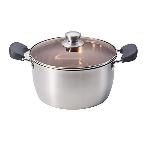WEZVIX 4 Quart Stock Pot, Stainless Steel Soup Pot with Lid, Stockpot for Home Kitchen or Restaurant, Dishwasher Safe & Rust Free
