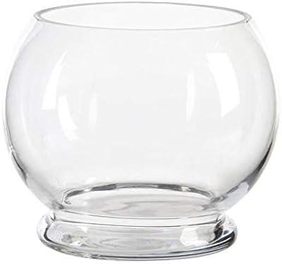 Vase en verre - 19 x 16 cm - Transparent