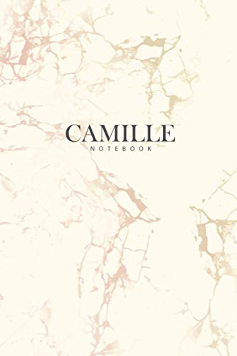 CAMILLE : Personal Marble CAMILLE Notebook / Journal: Diary Notebook / Lined Notebook / Journal Gift, 120 Pages, 6x9, Soft Cover, Matte Finish