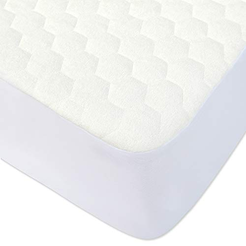 %7 OFF! BlueSnail Waterproof Quilted Pack N Play Crib Mattress Cover - Fits All Baby Portable Mini C...