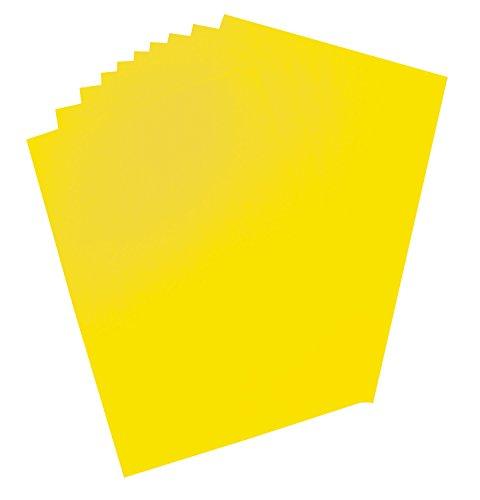 Folia 65911 Plakkarton, ca. 48 x 68 cm, 10 vellen, 380 g/m², eenzijdig lichtcitroengeel gekleurd - ideaal voor het knutselen of maken van posters en displays
