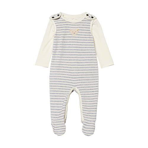 Steiff Baby-Unisex Set Strampler + Sweatshirt Bekleidungsset, Grau (Quarry 9007), (Herstellergröße: 74)