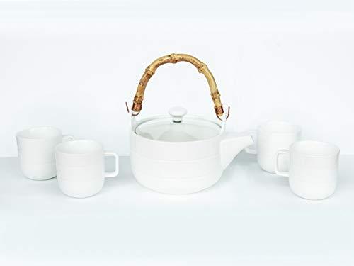 Gianchy Set da caffè in Porcellana Ceramica Servizio da tè per Regalo Perfetto, Kungfu Tea Set Vintage Stile Cinese Porcellana Fatto a Mano con teiera & 4 Tazze da tè