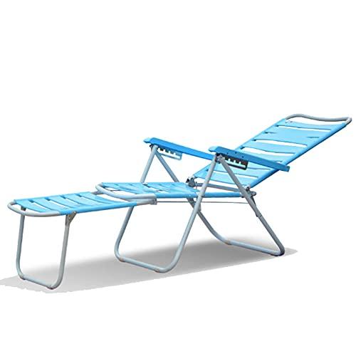 LLMY liegestuhl Strandkorb Aus Kunststoff, Faltbarer Liegestuhl, Frei Verstellbare Rückenlehne, Anti Rutsch Fußkleber, 45x65x36cm