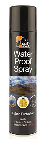 Out & About Protector de spray de tela impermeable tiendas de campaña sacos de dormir 300ml