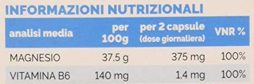 Massigen Magnesio con Vitamina B6 - Integratore 60 Capsule - 100 g