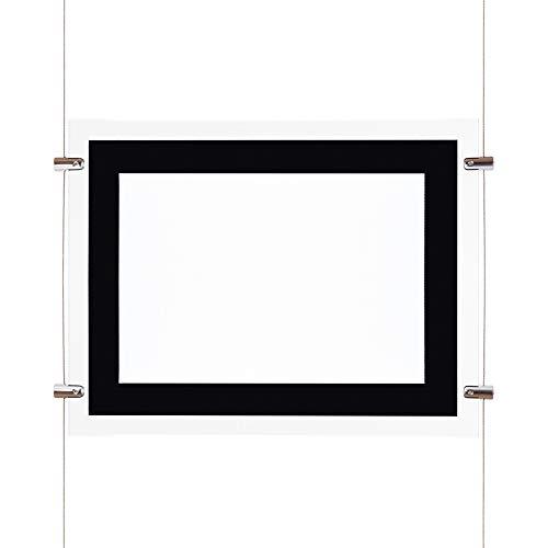 Kit Cartel Expositor LED DIN A3 Publicicad Escaparates Tiendas Inmobiliarias | DK Multitec (3 Carteles)