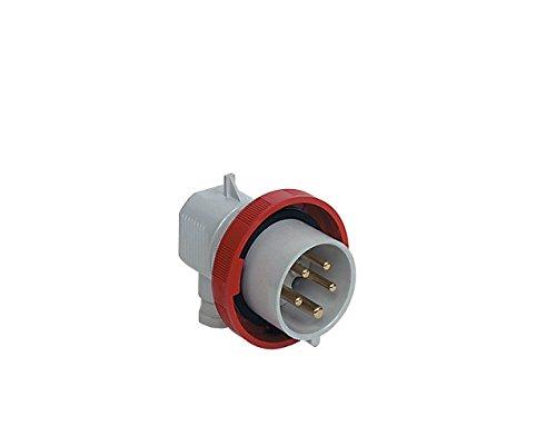 ILME Pew 1664SA Stecker Mobile ANG.Hoods Plugs 3Poles + PE, 16(A.C.) 380–415V 6Red Angled IP67