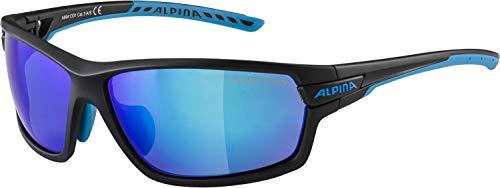 alpina TRI-SCRAY 2.0 Sportbrille, Unisex- Erwachsene, black matt-cyan, One size