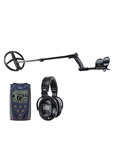 XP DEUS 28 X35 RC WS5 Metalldetektor mit Fernbedienung, Funkkopfhörer WS5 und Scheibe 28 cm X35