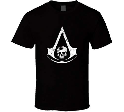 N/C Assassins Creed 4 Skull Logo t-Shirt Video Game Geek Nerd Gamer Wear Shirts