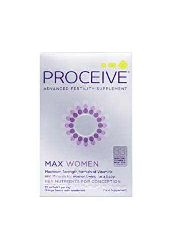 Proceive Advanced Female Fertility - Maximum Strength Pregnancy Vitamin Supplements - Vegetarian - for Women - 30 Sachets