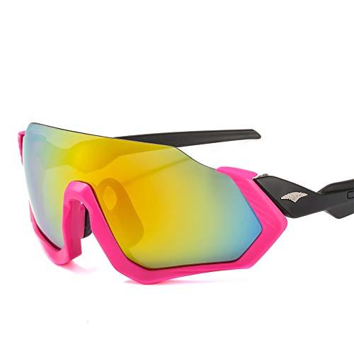 YIWEN Radbrille Herren Damen Polarisierte Sport-Sonnenbrille, unzerbrechlich, sicher zum Laufen, Angeln, Reisen, Klettern, modisch, UV-Schutzbrille Pink