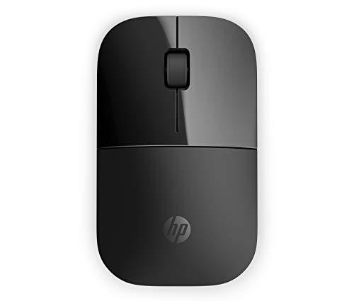 HP - PC Z3700 Mouse Wireless, Sensore Preciso, Tecnologia LED Blue, 1200 DPI, 3 Pulsanti, Rotella Scorrimento, Ricevitore USB Wireless 2.4 GHz Incluso, Design Pratico e Confortevole, Nero