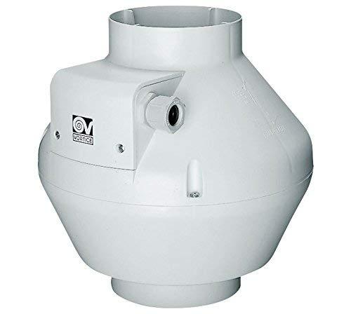 Vortice - Aspirador centrífugo axial con sensor de humedad y presencia y ventilador de 3 velocidades (16008 - Diámetro nominal 100 mm)
