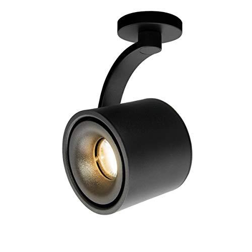 HAOFU 10W spot plafond LED orientable,LED Plafonnier Spots lampe,Spots de plafond,Applique de Plafond, spots plafond orientables,éclairage plafond LED,Plafonnier d'intérieur,IP20 (Noir-blanc chaud)