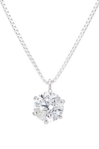 Diamond Necklace Solitaire Pendant for Women Choice of 18ct White Gold, Yellow Gold Rose Gold or Platinum (900) - Diamonds Certified Conflict Free and Natural (Platinum, 0.20)