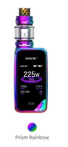 Authentische SMOK X PRIV Kit 225W TFV12 Prinz 8mL Tank E Zigarette Starter Kit (Prism Rainbow)