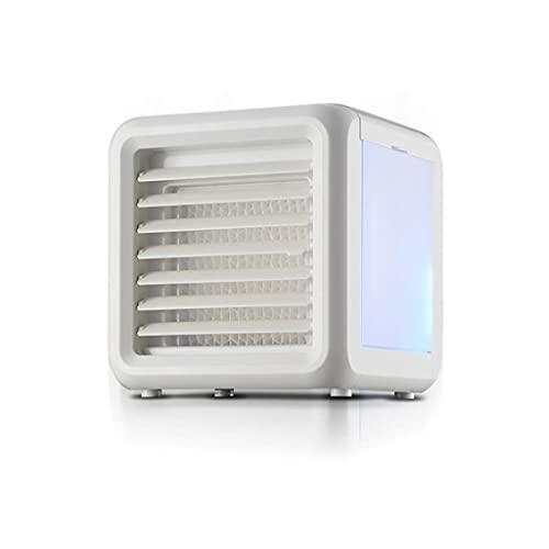 LIXHZJ - Dispositivo di raffreddamento evaporativo, portatile, senza tubo di raffreddamento portatile, mini condizionatore d aria portatile cubo, 700 ml, 5 Watt, bianco, 7 colori LED Sleep Light  576