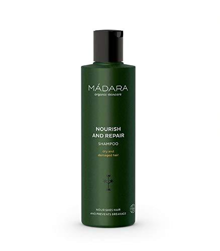 MÁDARA Organic Skincare | Nähr- und Reparaturshampoo - 250ml, Mit Nessel und Quitte aus dem Norden, nährend, seidig, reichhaltig, bruchsicher, vegan, Ecocert-zertifiziert, recyclebare Verpackung.