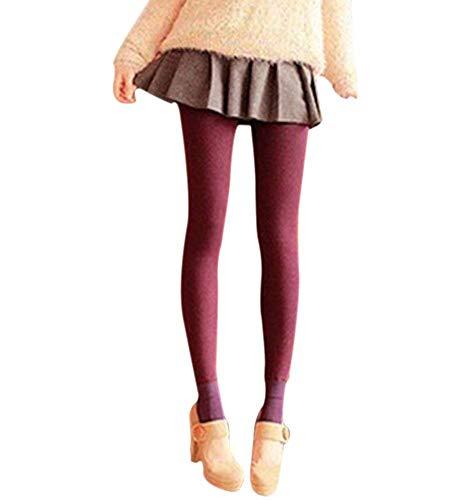 Forro Polar para Mujer Pantalones De Legging Cálido Ropa Elástico Calor Térmico...