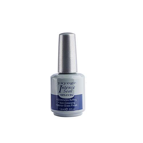 Yayoge Top Coat Intense Seal 14ml Gel Nail Polish Long Lasting Soak Off Varnish UV LED Lamp Cured for Nail Art DIY Salon and at Home
