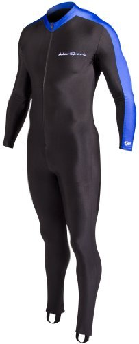 NeoSport Wetsuits Full Body Sports Skins Full Body Sports Skins, Blue Trim, X - Diving, Snorkeling & Wakeboarding by NeoSport