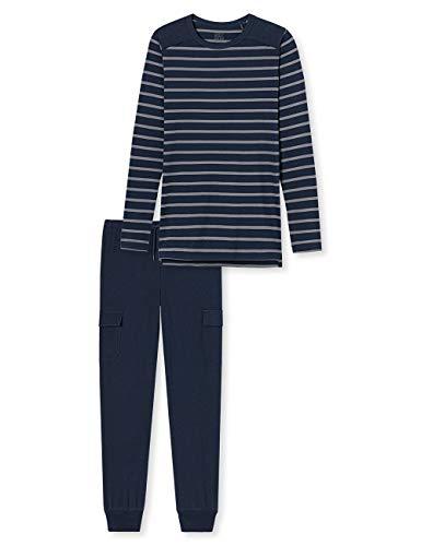 Schiesser Jungen lang Zweiteiliger Schlafanzug, Blau (Blau 804), (Herstellergröße: 164)
