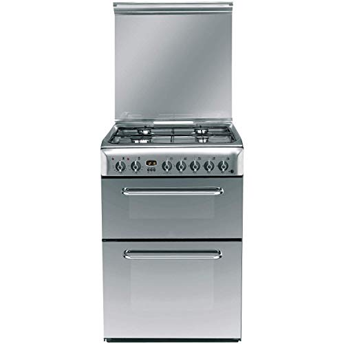 Indesit KDP60SE 60cm Double Oven Dual Fuel Cooker - Stainless Steel