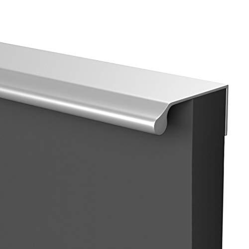 HBLZG Manija Moderna aleación de Aluminio Armario Gabinete Muebles de la Puerta Tiradores, Oculto Dedo Tirador for el hogar Puerta de la Cocina del gabinete del cajón (Color : Silver, Size : 200mm)