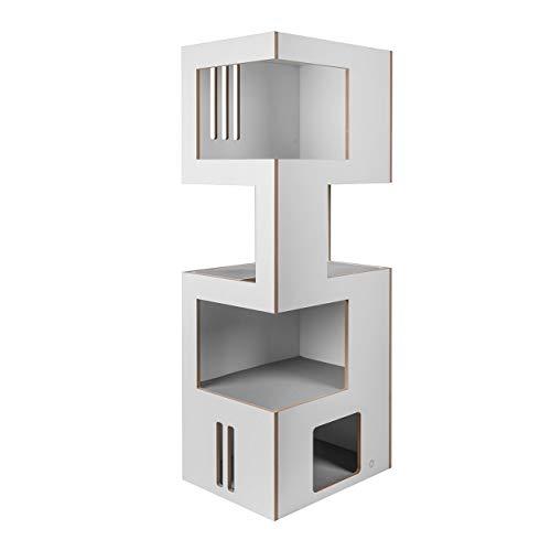 CanadianCat Company ®   Kratzbaum, Kratzmöbel Cat Castle XL – der Klassiker Natur-weiß-grau