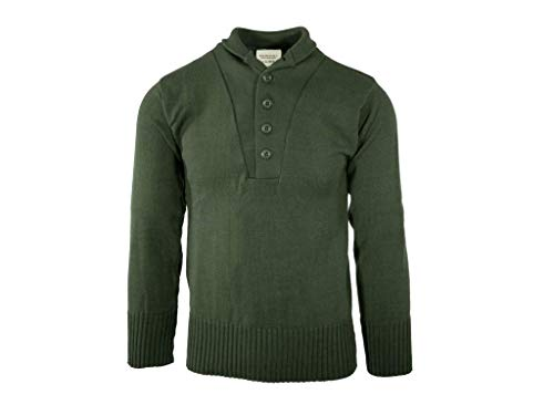 Sweater, 5 Button, John Ownbey, OD Green, Size 2XL