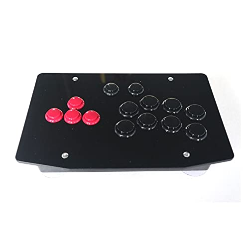 jiasHome DINGSONGYANG RAC-J501B Todos los Botones Arcade Fight Stick Controller Style Joystick Fit para PC USB (Color : Red and Black)