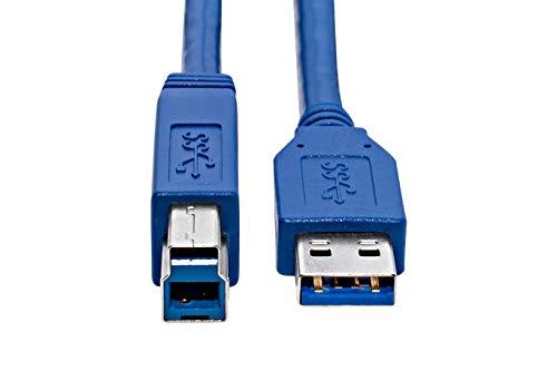 KnnX 28096 | USB 3.0-kabel | 1m | A mannetje naar B mannetje | Snelle supersnelle verbindingskabel voor externe harde schijven, hubs, NAS-opslagserver