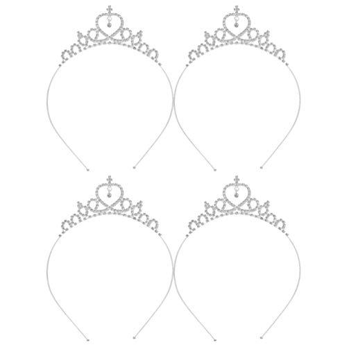 Lurrose Novia Corona Cristal Tiara Coronas Princesa Elegante Corona Mujeres Rhinestone Diademas...